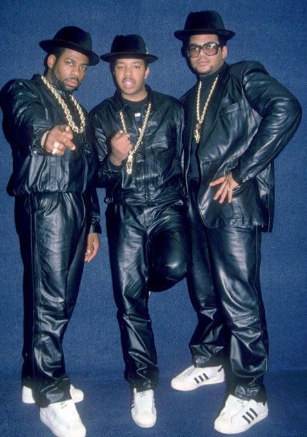 Zespół Run DMC w butach adidas Supersta