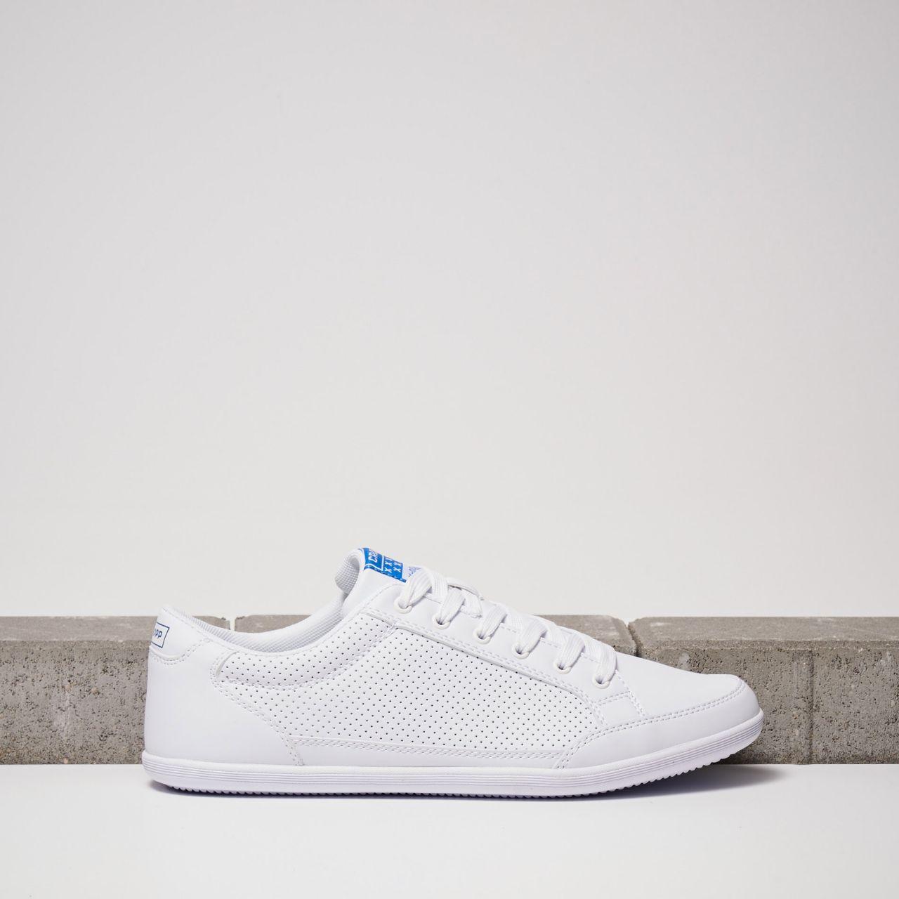 Białe sznurowane buty Cropp