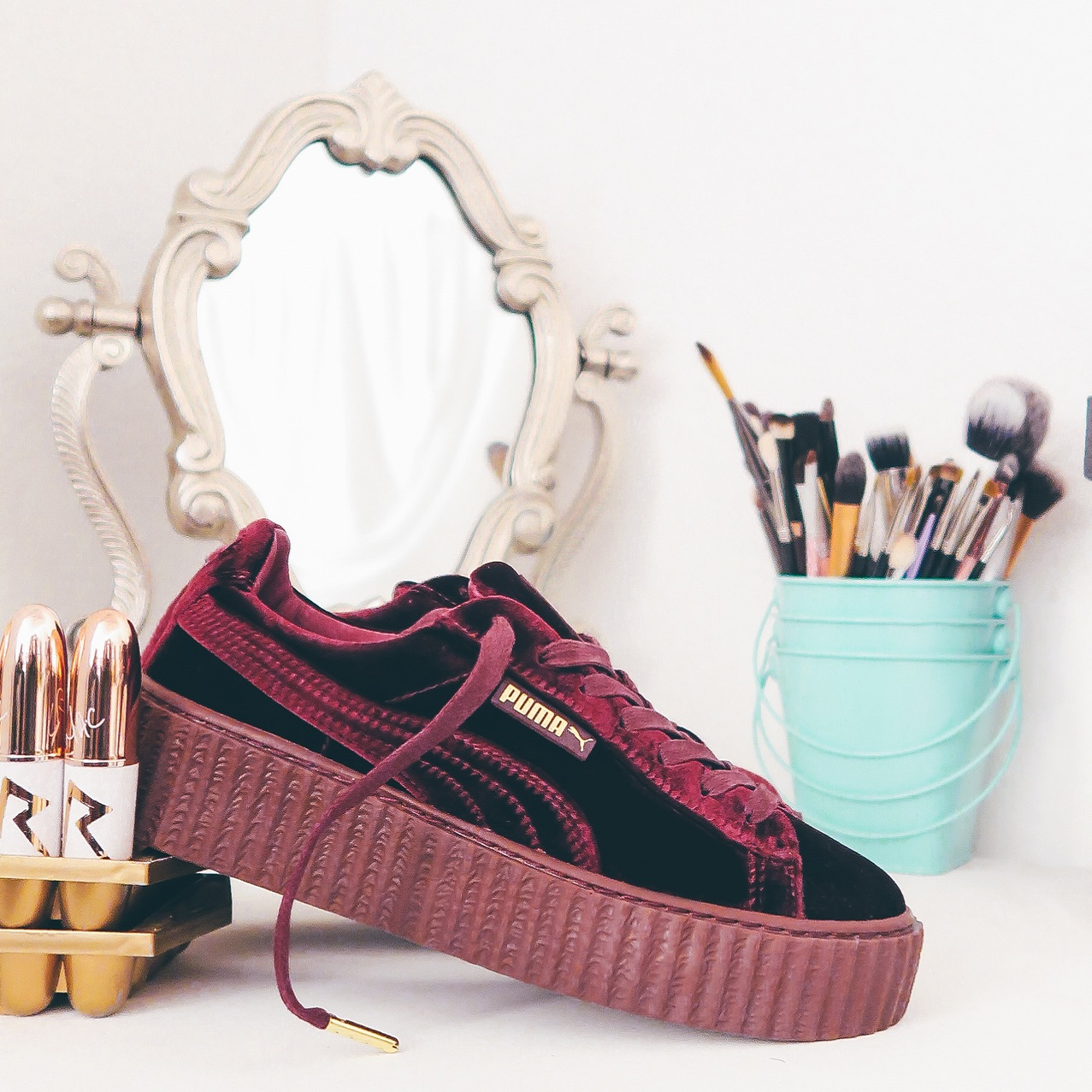 Puma Creepers Bordowe