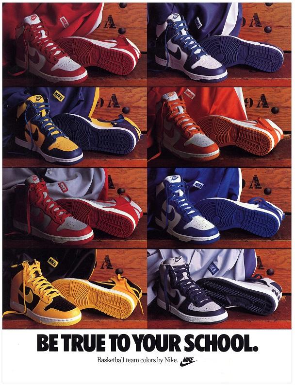 Różne kolory butów Nike Dunk w zależności od barw Uniwersytetu