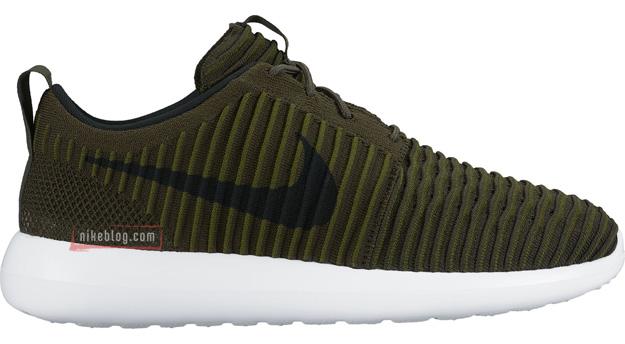 Nike Roshe Two Flyknit oliwkowe